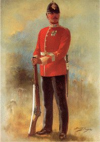 UN009.  Cheshire Regiment by Harry Payne. <b><p>Open edition print. <p> Image size 7 inches x 12 inches (18cm x 31cm)