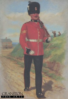 UN011.  Royal Fusiliers by Harry Payne. <b><p>Open edition print. <p> Image size 7 inches x 12 inches (18cm x 31cm)