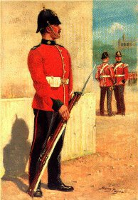 Devonshire Regiment by Harry Payne.