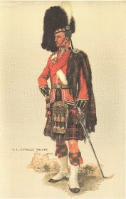 Cameron Highlanders Officer Review Order 1914 by Haswell Miller