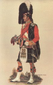 Gordon Highlanders Officer Review Order 1914 by Haswell Miller.