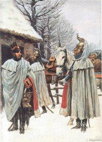 Garde Imperiale Dragons de LImperatrice - Tenue de Campagne Trompette en Manteau 1806-1807 by L Rousselot