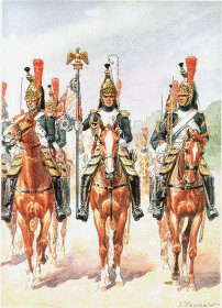Garde Imperiale Dragons de LImperatrice - Tenue de Campagne Lieutenant Porte-Aigle 1811-1813 by L Rousselot