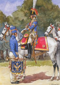 Garde Imperiale - Grenadiers a cheval - 1809 - 1814 by L Rousselot.