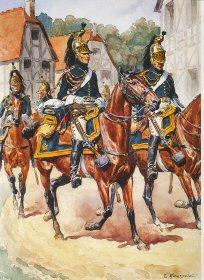 Garde Imperiale - Dragons de Imperatrice - Marechal des logis et dragons, tenue de route 1807 - 1808 by L Rousselot