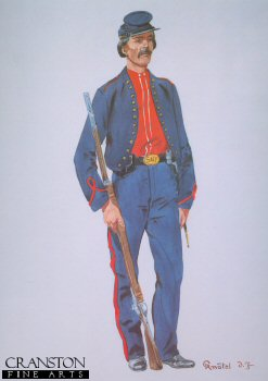 44th New York Volunteers Private (Ellsworth Avengers) 1861 by Richard Knotel.