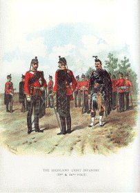Highland Light Infantry by Richard Simkin