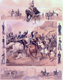 The Light Dragoons 1845 by Michael Angelo Hayes.
