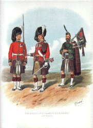 Cameron Highlanders by Richard Simkin