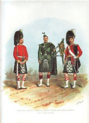 Argyll and Sutherland Highlanders by Richard Simkin. (P)