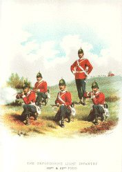Oxfordshire Light Infantry by Richard Simkin