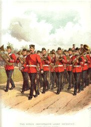 Shropshire Light Infantry by Richard Simkin.