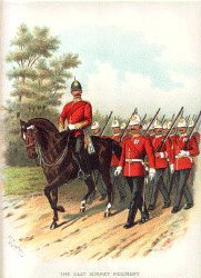 The East Surrey Regiment by Richard Simkin