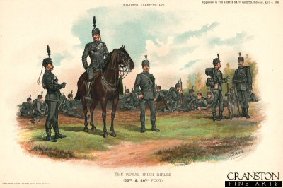 The Royal Irish Rifles by Richard Simkin.