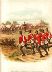 The Duke of Cornwalls Light Infantry (32nd and 46th Foot) by Richard Simkin