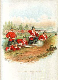 The Leicestershire Regiment by Richard Simkin