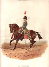 4th Hussars by Richard Simkin.