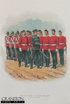 The Loyal North Lancashire Regiment (47th and 81st foot) by Richard Simkin. (Y)