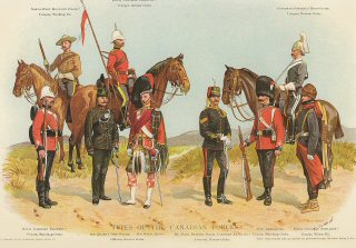 Types of the Canadian Forces by Richard Simkin