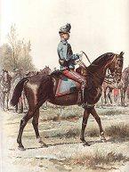 Officier de Hussards - Grande Tenue by Edouard Detaille.