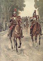 Cuirassiers Peloton DEscorte by Edouard Detaille.