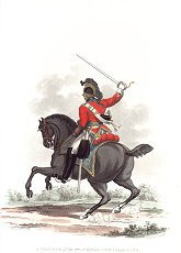 Private, 3rd or Kings Own Dragoons by J C Stadler after Charles Hamilton Smith.