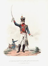 Officer (Lieut. Col.) of the 14th Light Dragoons in Parade Dress by J C Stadler after Charles Hamilton Smith.