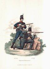 British Riflemen (60th Regiment & 95th Regiment) by J C Stadler after Charles Hamilton Smith.