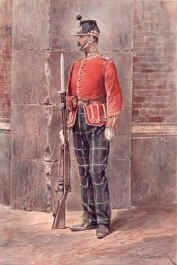 The Highland Light Infantry by Richard Caton Woodville.