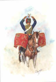 Kettle Drummer, Royal Gloucestershire Hussars 1886 by R Marrion