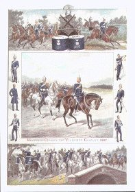 Hampshire Carabiniers Yeomanry Cavalry 1887 by Michael Angelo Hayes.