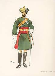 Officer 6th Bombay Cavalry by John Charlton (1897) (Y)