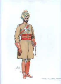 Officer 7th Bombay Lancers by John Charlton (1897)
