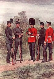 The London Regiment, City of London Battalions by Richard Caton Woodville (P)