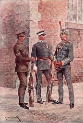 The London Regiment, City of London Battalions by Richard Caton Woodville (P)