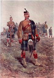 Kings Liverpool Regiment, 10th Scottish Battalion by Richard Caton Woodville. (P)