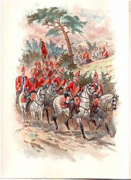 2nd Royal North British Dragoons on the Line of March 1743 by Harry Payne (P)