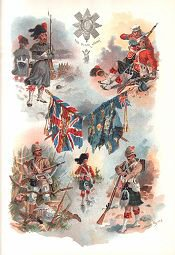 Badge and Colours of the Black Watch by Harry Payne.