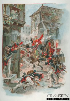 Death of Colonel Philips Cameron at Fuentes dOnoro 1811 by Harry Payne.