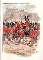 Queens Own Cameron Highlanders on Parade 1893 by Harry Payne.