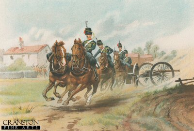 The Royal Horse Artillery by G Douglas Giles (P)