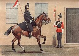 The 16th (Queens) Lancers by G Douglas Giles (P)
