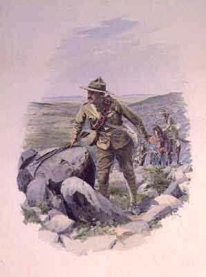 Canadian Scout of the Veldt after William Barnes Wollen