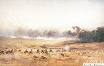 Pinned Down (Highlanders Engage Boers) by John Farquharson