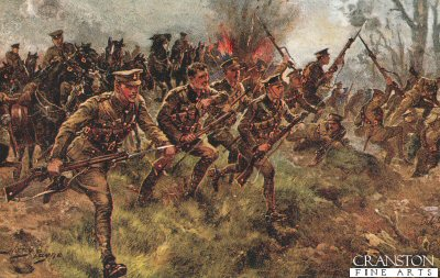 Charge of the First Life Guards at the battle of Klein Zillebeke November 6th 1914 by Harry Payne.