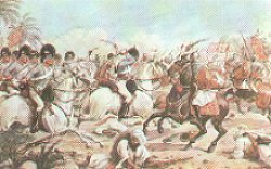 8th Light Dragoons at Laswarree by Richard Simkin.