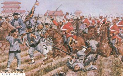 1st Dragoon Guards at Chang-Kia-Wan, Peking 1860 by Richard Simkin.