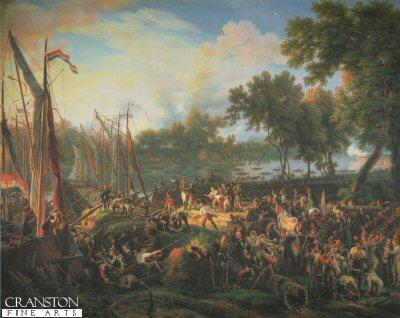 Passage du Rhine Dusseldorf, le 6th September 1795, by Louis Lejeune. (Y)