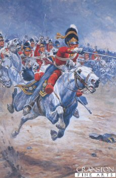 VAR278.  Charge of the Greys by Stanley Wood. <b><p>Open edition print. <p> Image size 8 inches x 12 inches (20cm x 31cm)