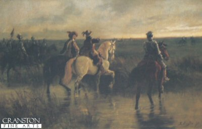Prince Rupert and his Staff by Ernest Crofts.
